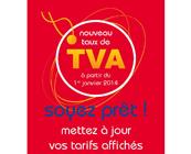 Nouveaux taux de TVA à partir du 1er janvier 2014