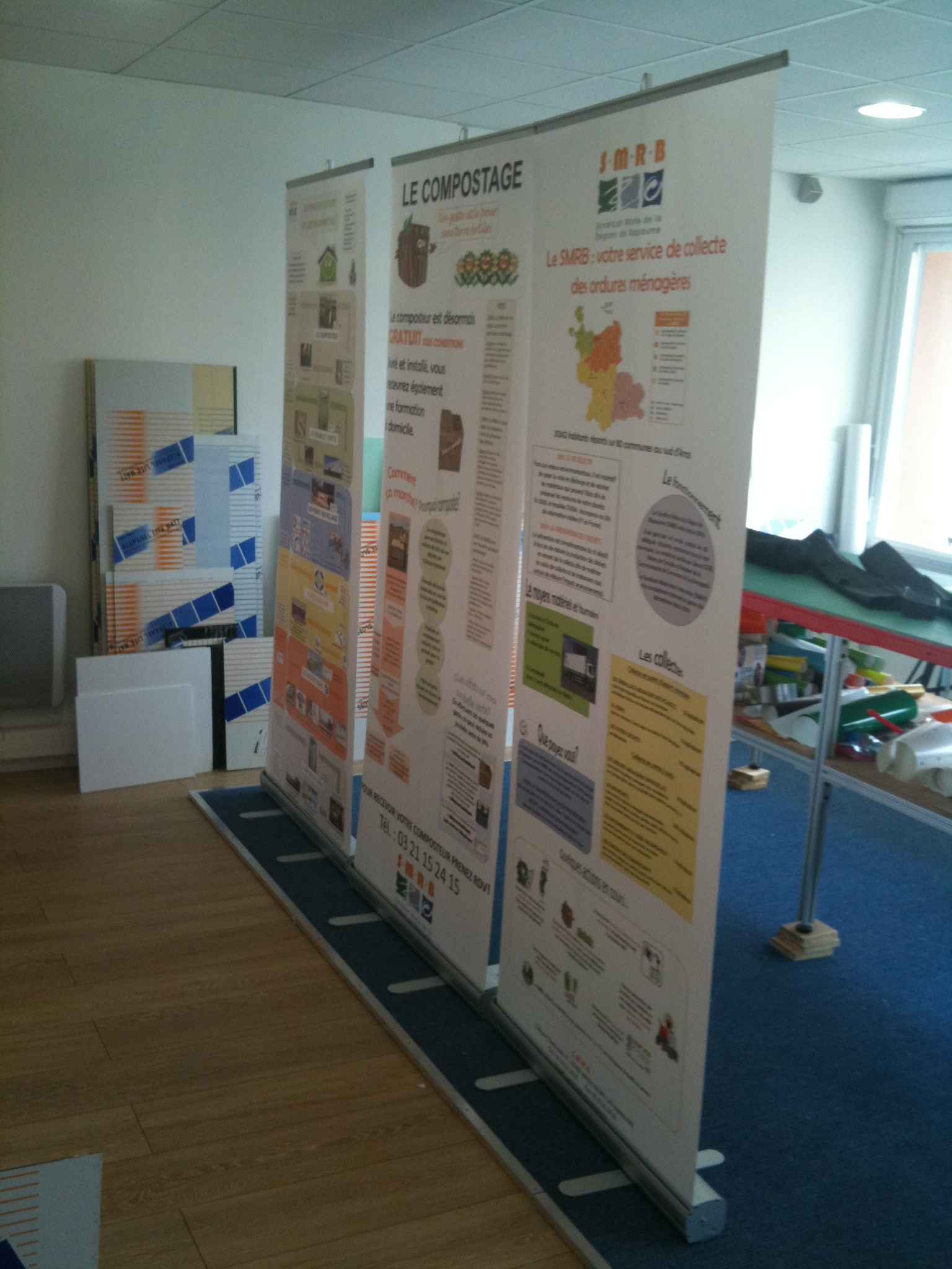 Display pano for Stand enrouleur