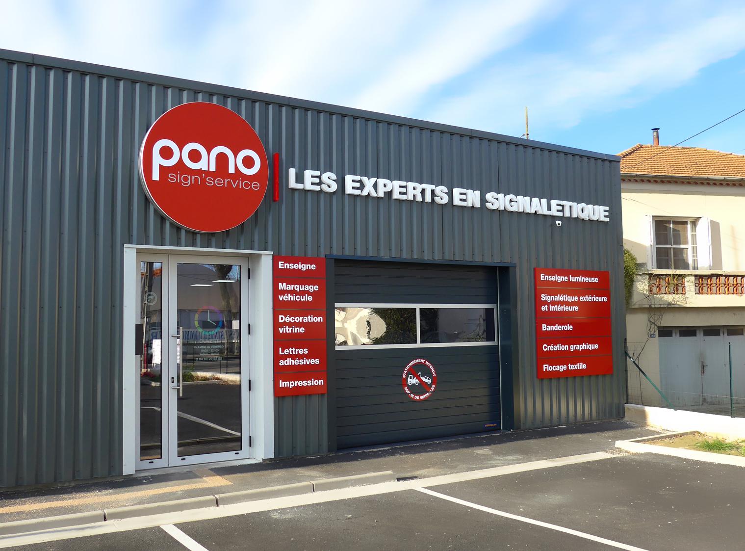 Pano enseigne d co orange for Panneau enseigne exterieur