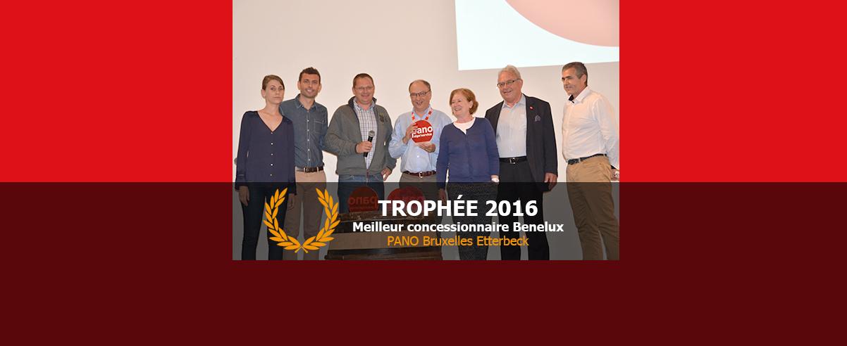 Trophée Concessionnaire Benelux de l'année