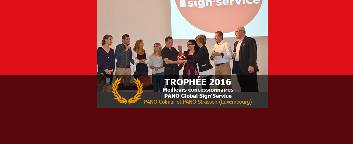 Trophée Concessionnaires PANO Global Sign'Service de l'année