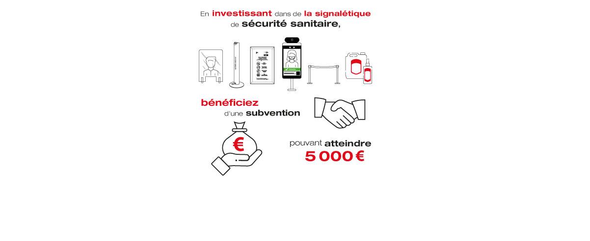 Bénéficiez de la subvention « Prévention COVID » !